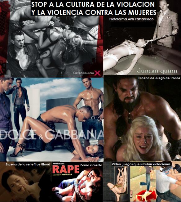 STOP A LA CULTURA DE LA VIOLACION