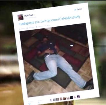 Muchos usuarios subieron fotos a modo de burla imitando las posturas en las que habían fotografiado a la chica violada, desnuda e inconsciente